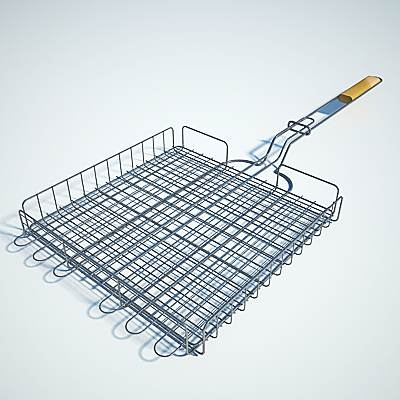 The 3D model of a Barbecue grate