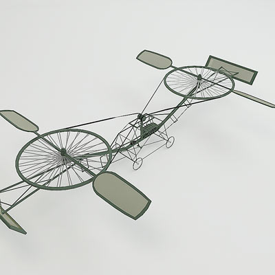 3D model of a first helicopter