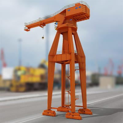 3D model of a Hammerhead harbor crane