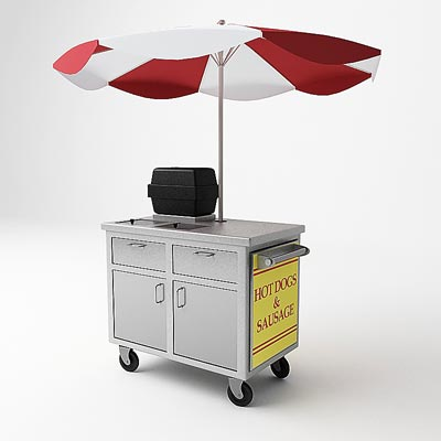 3D model of a Hot dog cart