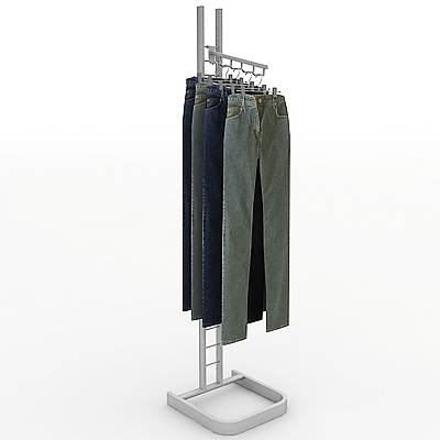 model: 3D Metal clothing rack with pants