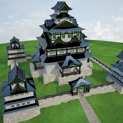3D model of a Japanese castle