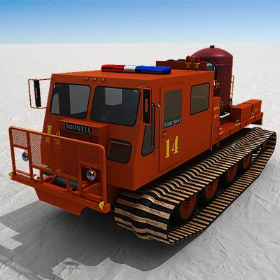 Truck-sized snow vehicle, snowcat 3D model