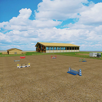 3D model of an Equestrian center