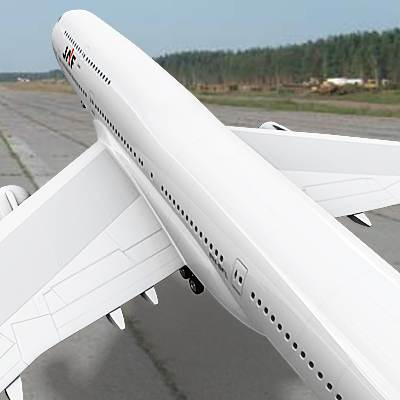 3D model of B-747 often called Jumbo, textured as a JAL plane