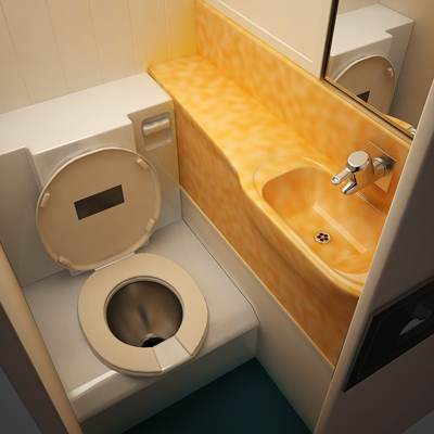 Dreamliner regular lavatory interior 3D model