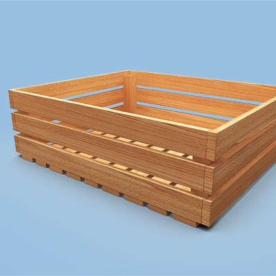3D model of a Wooden tray
