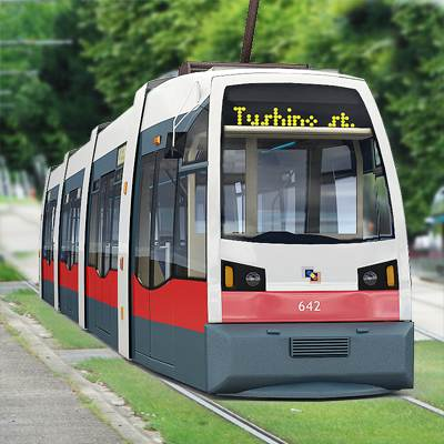 3D model: This remarkable Tramway collection combines old trams and new trams. So, that is not surprising to find here a new Vienna tramway.