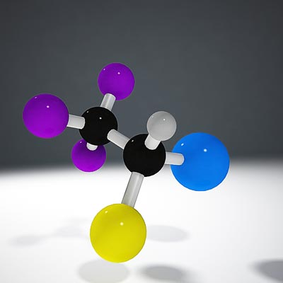 3D model of Halothane molecule structure