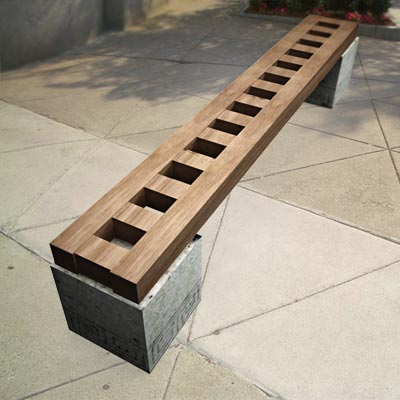 3D model of a Modern Chinese bench