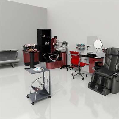 3D model of a Hair and beauty salon