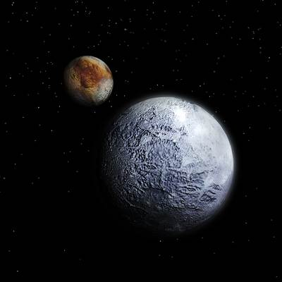 Photorealistic 3D model of Pluto with Charon