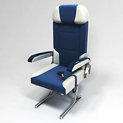 model: 3D Airplane economy class seats