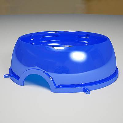 model: Plastic 3D dog bowl