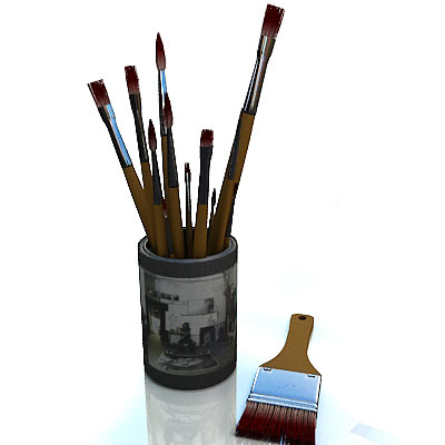 3D model of Brushes