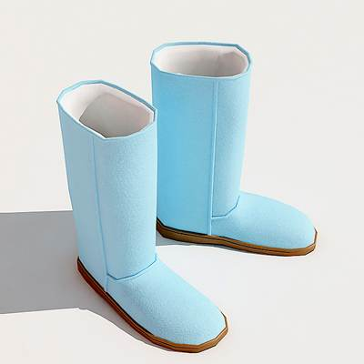 The 3D model of a Ugg shoes