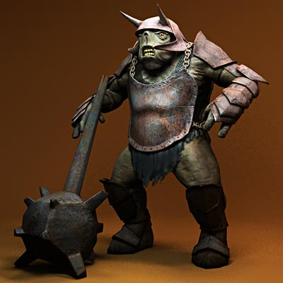 3D model of Armed cave troll
