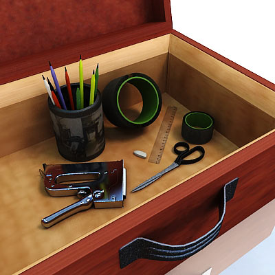 3D model of a Drawing set