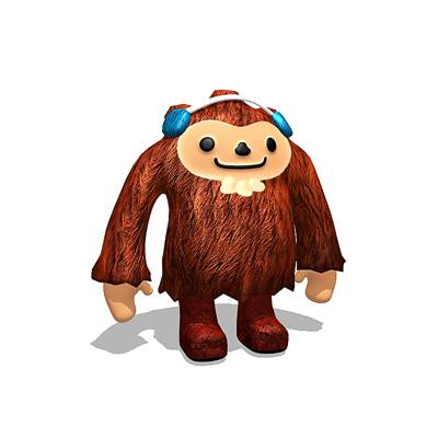 model: 3D Quatchi, one of the Olympics mascots