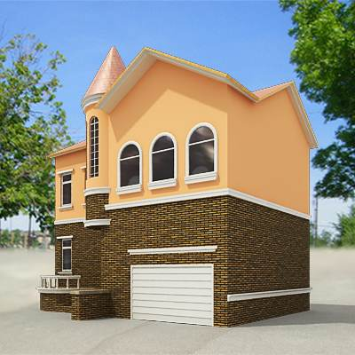 3D model: Orange small house  $29 95 [buy, download]