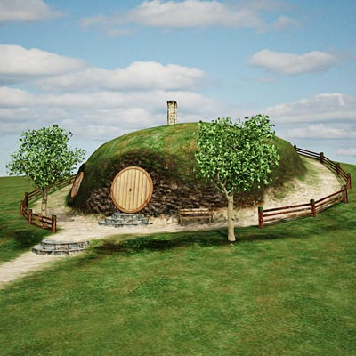 3D model of a Hobbit home