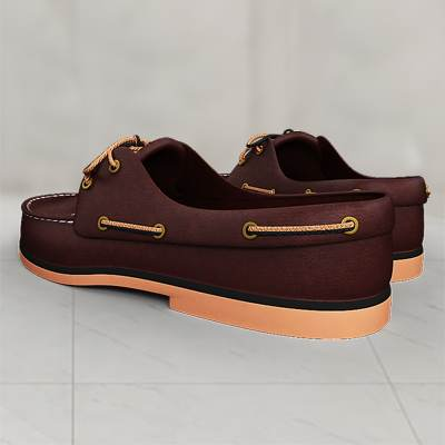 The 3D model of a Men's moccasines