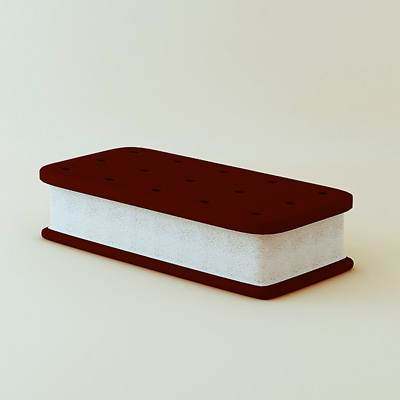 model: Nice and realistic 3D ice cream sandwich