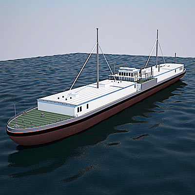3D model of the first motorship
