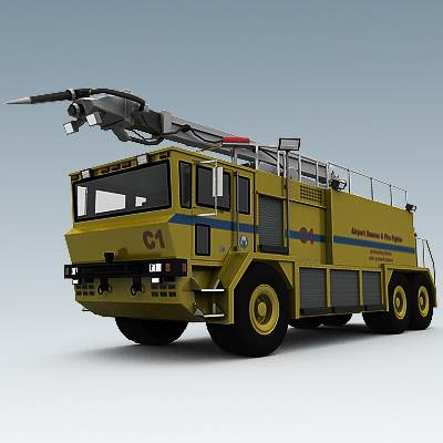 3D model of an Airport fire engine from New York