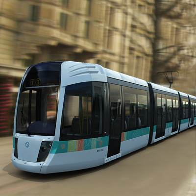3D model: As many others, the charming Paris tramway is included in the Tramway collection.
