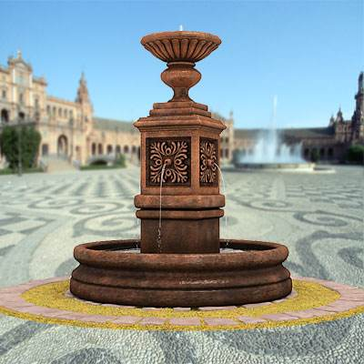 The 3D model of a Classic fountain