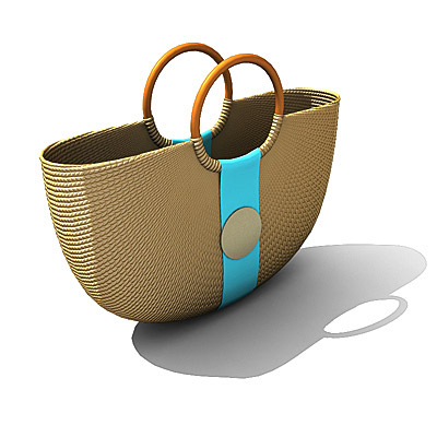 3D model of a beach bag
