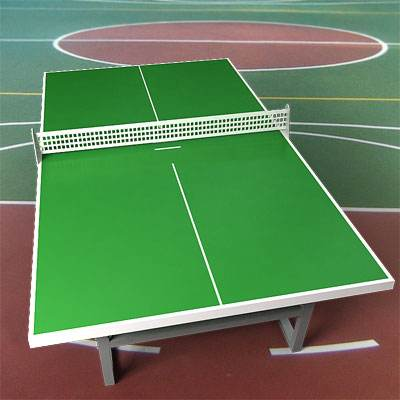 3D model of a Standard ping pong table with green surface