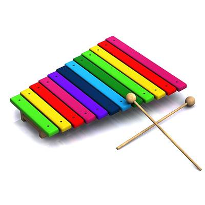The 3D model of typical baby Xylophone