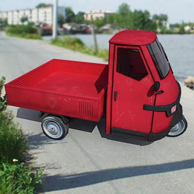 3D model of a Chinese truck