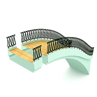 3D model of an Arch footbridge