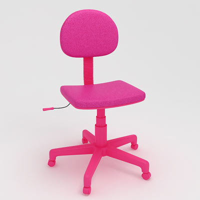 3D model of a kid's computer chair