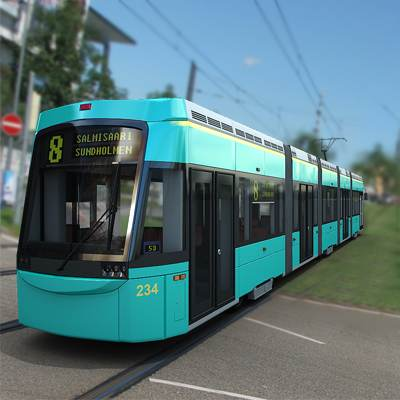 3D model: Contemporary Helsinki tram