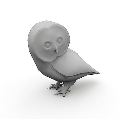 3D model of an Owl
