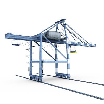 The 3D model of a Gantry crane