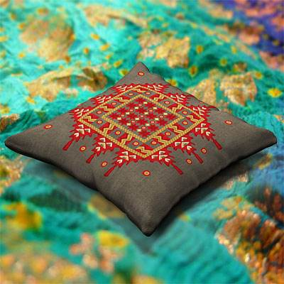 model: The 3D Beautiful Indian cushion