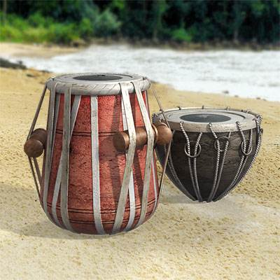 "The 3D model of Indian ""tabla"" drums"