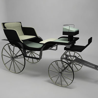 3D model of a Circus carriage<br />