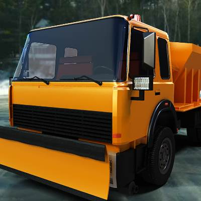 3D model of a winter service vehicle (WSV), or snow removal vehicle