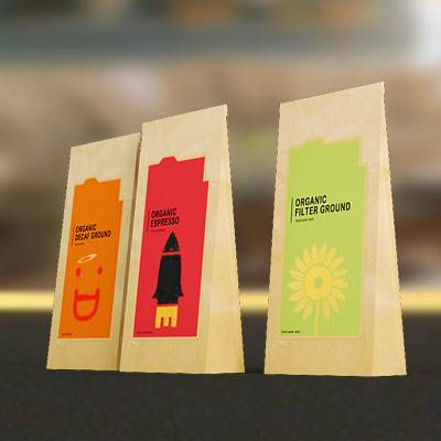 3D model: Coffee paper pack set