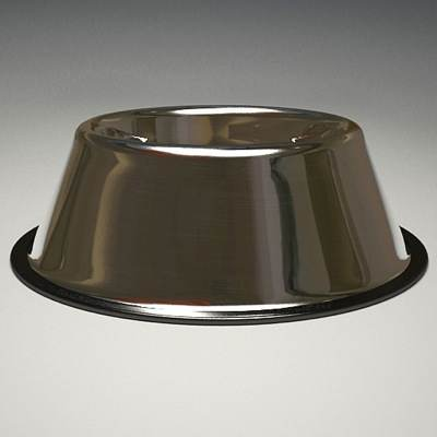 model: 3D dog bowl made of steal
