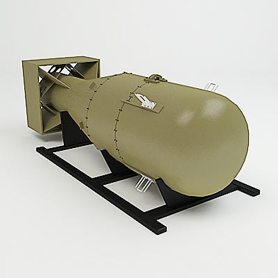 3D model of the first atom bomb
