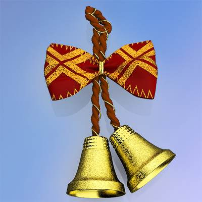 The 3D model of Christmas bells