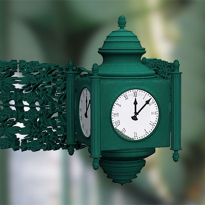 3D model of Carved angle clock