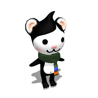 model: 3D Miga, one of the Olympic mascots